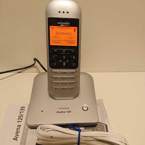 Stacjonarny telefon bezprzewodowy SWISSVOICE Avena 129 PL