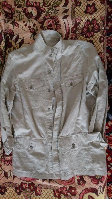 Пиджак и брюки лен, качественный материал .