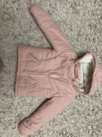 Куртка зимова на вовчині для дівчинки