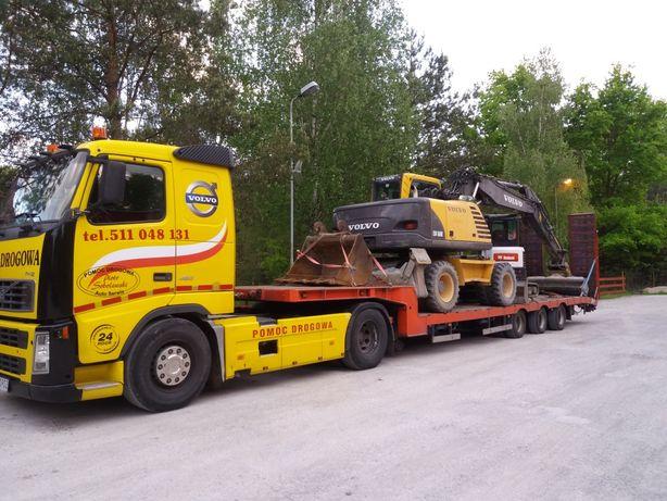 Transport maszyn rolniczych i budowlanych pomoc drogowa serwis mobilny