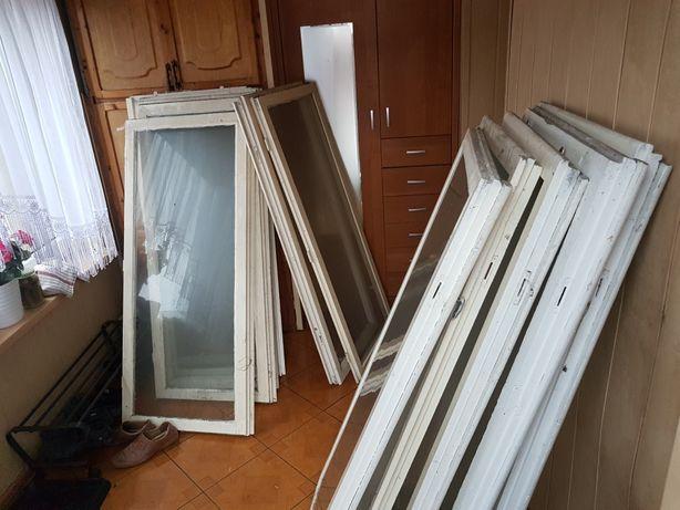 Okna drewniane z demontażu