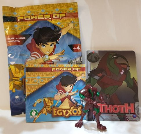 Power of Egyxos figurki i karty THOTH KEFER KHA nowe
