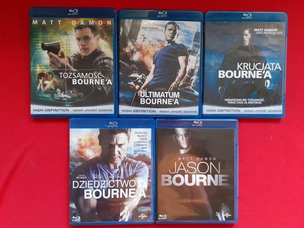 BOURN wszystkie pięć części filmy blu-ray