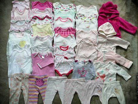 Paka zestaw ubrań 62-74 dla dziewczynki zadbane