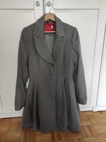 Wełniany szary zimowy płaszcz Tiffi rozmiar M