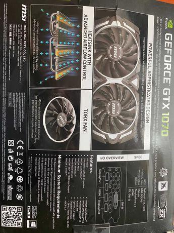 Karta graficzna MSI GEFORCE GTX 1070 ARMOR 8GB RAM OPCJA i5 6600