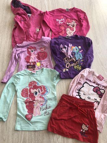 Ubranka dla dziewczynki 98-110 Elsa, My little pony, Hello Kitty