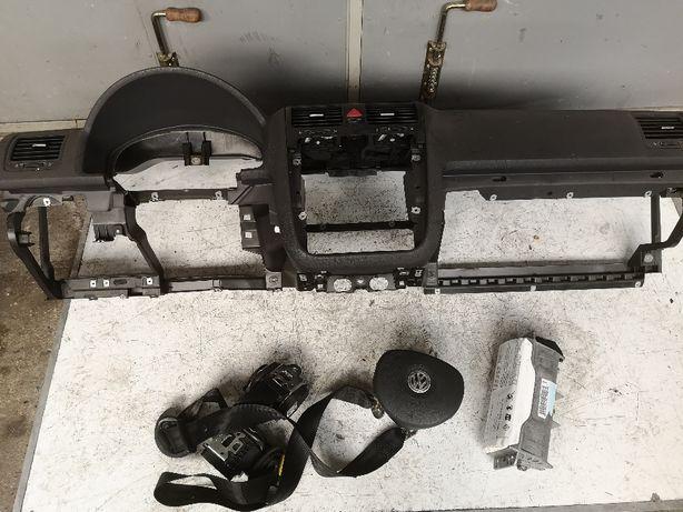Deska konsola Airbag Vw Golf V 2 pasy oryginal