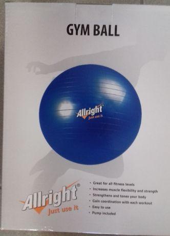 4 szt. Nowa Piłka gimnastyczna 75 cm z pompką Allright (niebieska)