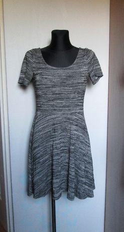 H&M sukienka popiel melanż r. 40