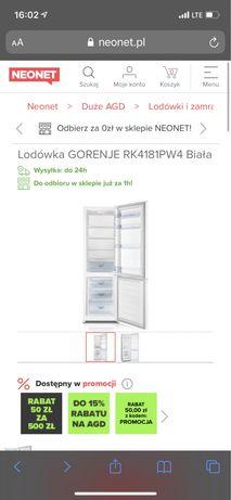 Lodówka GORENJE RK4181PW4 Biała nowa