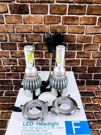 Автомобильные LED лампы C6 H4 комплект 2шт автолампы