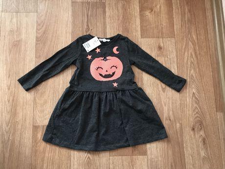 Нарядное платье H&M 98-104 р, 3-5Y