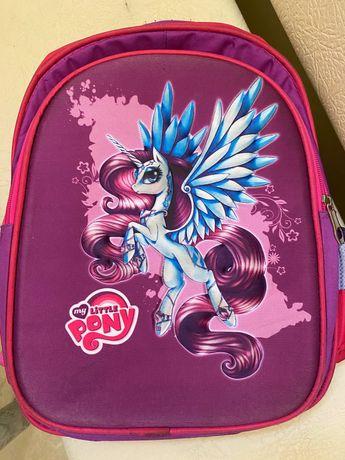 Рюкзак школьный ортопедический с единорогом