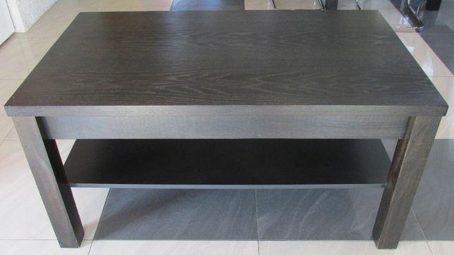 Ława drewniana dwupoziomowa czarna duża mat 120x70