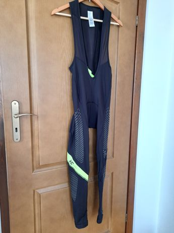 Spodnie rowerowe Rockrider na szelkach, rozmiar M
