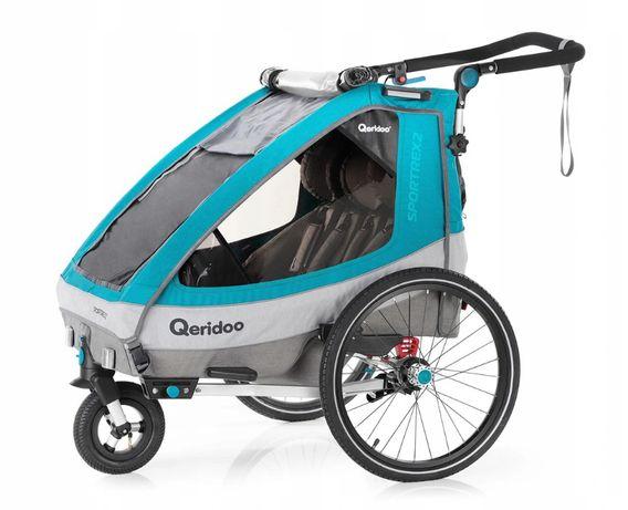 Przyczepka rowerowa, wózek Qeridoo Sportrex2 2020 - dla dwójki dzieci