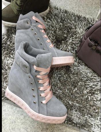 Сникерсы, ботинки натуральная кожа.