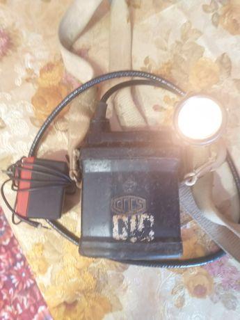 Продам шахтарський ліхтар часів ссср СГГ 5 у робочому стані з зарядкою