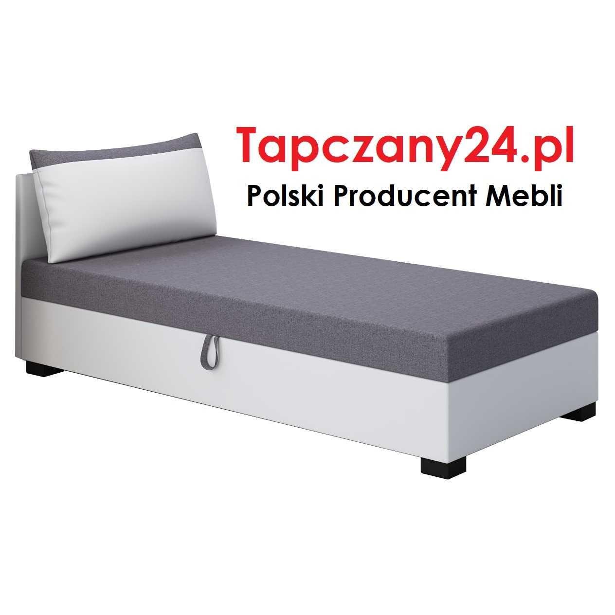 Łóżko hotelowe jednoosobowe Tapczan młodzieżowy +pojemnik Producent