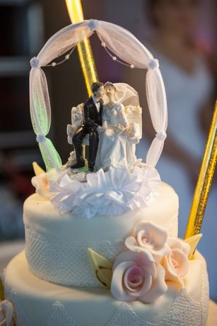 Ozdobą ślubna na tort