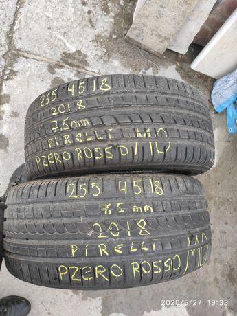 Шини літні 255 45 18 pirelli pzero rosso, MO, 2018, стан нових.