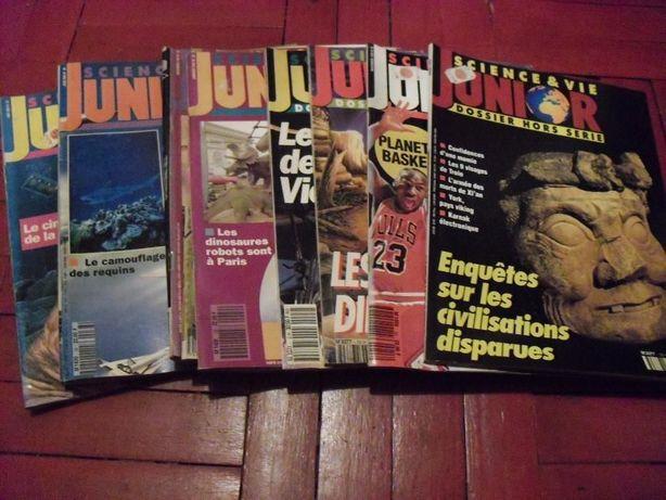 revistas Science & vie junior e outras.