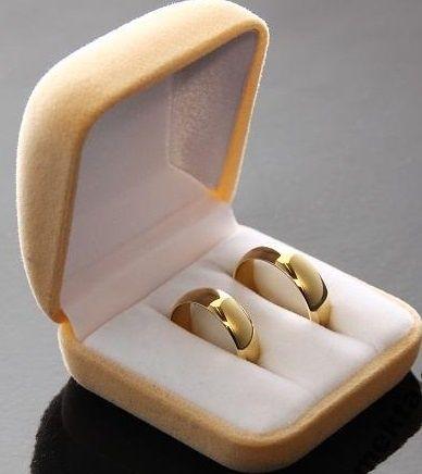 Obrączki złote ślubne półokrągłe, próba 585, 4mm