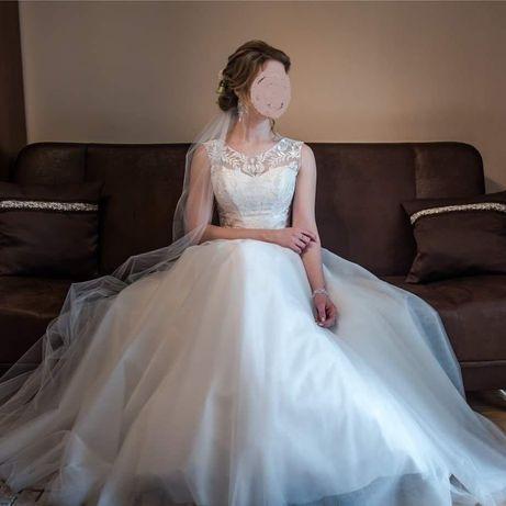 Suknia ślubna 36-40 plus dodatki, sprzedam szybko!