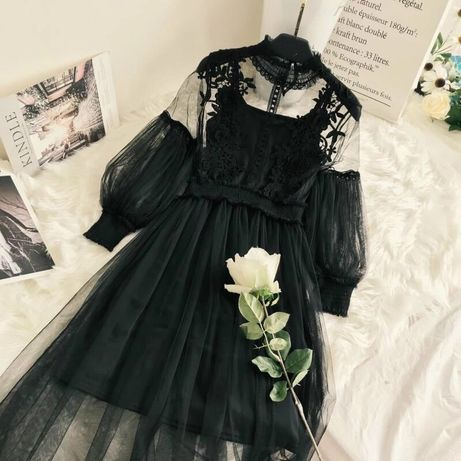 NEW! Кружевное платье с цветочным рисунком!