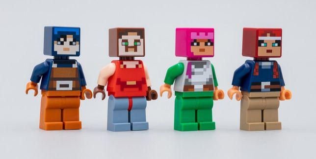 Figurki LEGO Minecraft z zestawu 21163