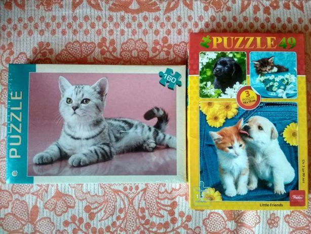 Пазлы с животными (кот, котик, собака, собачка) новые
