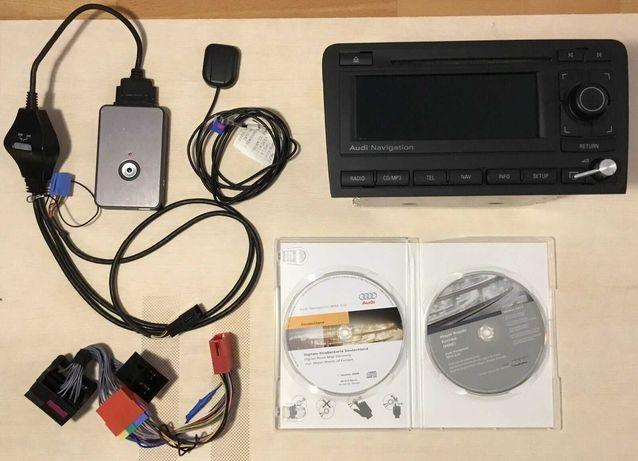 Rádio Audi Navigation Original + Módulo DMC