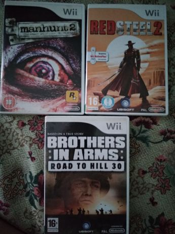 Red Steel 2, Man Hunt 2, Brothers In Arms Nintendo Wii
