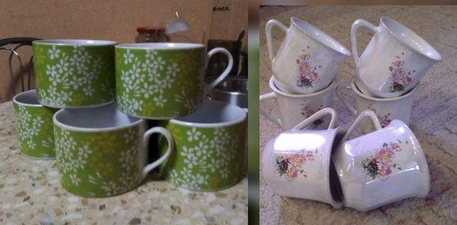 Чашки 6 шт. Наборы , сервиз чайный + подставка подарок