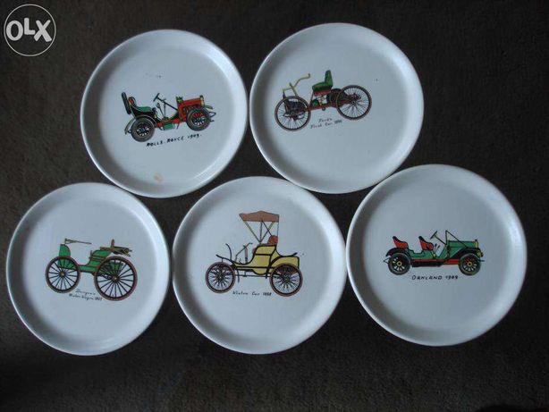Automóveis antigos pratos decorativos de porcelana decorativos