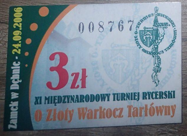 Bilet kolekcjonerski: XI Turniej Rycerski na Zamku w Dębnie