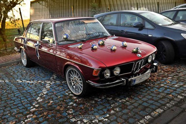 Zabytkowe BMW e3 do ślubu klimatyzacja wersja Long wyjątkowy kolor