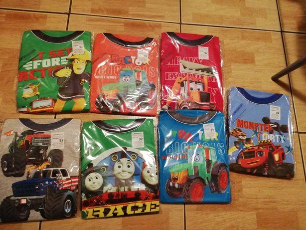Piżama z krótkim rękawem r. 92 strażak Sam, Blaze, psi patrol, Tomek