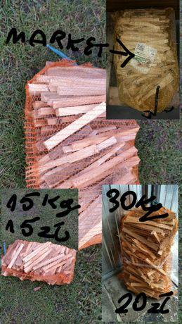 Drewno na rozpałke(worki) 60x30 lub 80x60 dowóz Skierniewice okolice