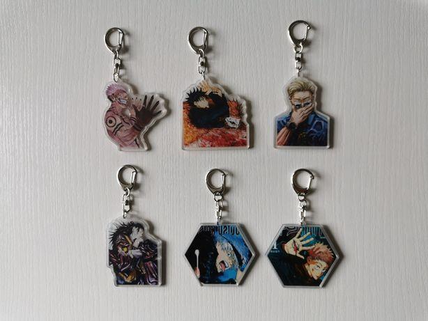 Jujutsu Kaisen, breloczki, manga, anime, brelok do kluczy
