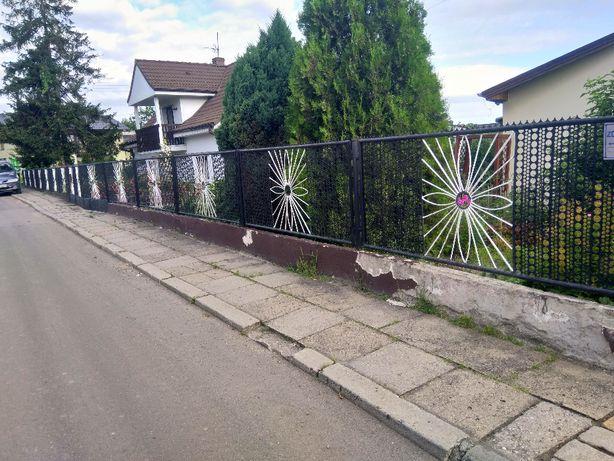 Płot, przęsła, ogrodzenie, brama