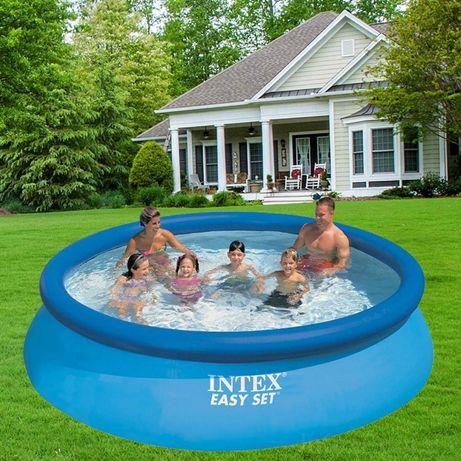 Intex Бассейн наливной надувной 28130, 366х76 см, объём: 5621 л Интекс