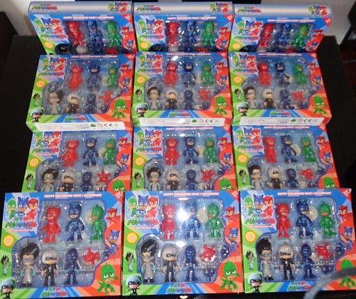 Pack 9 figuras pj masks corujinha gekko catboy articulados 10 cm
