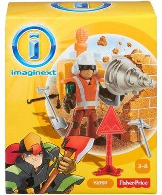 NOWY Imaginext Robotnik drogowy Fisher Price Y2797
