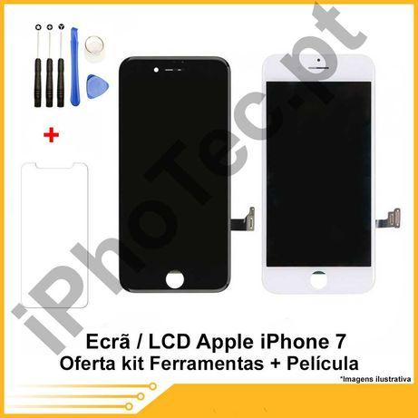 ECRÃ / TOUCH + LCD iPhone 7 oferta película + kit ferramenta