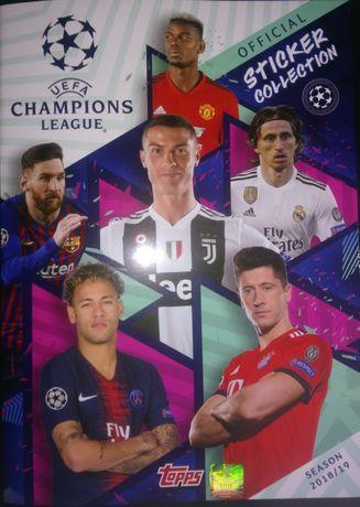 10.12. Naklejki uefa champions league topps sezon 2018 / 2019
