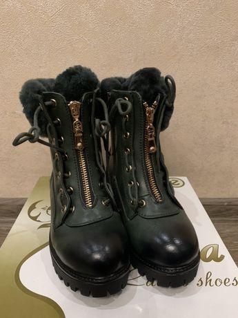 Сапоги сапожки ботиночки зимние зима 17,5см для девочки