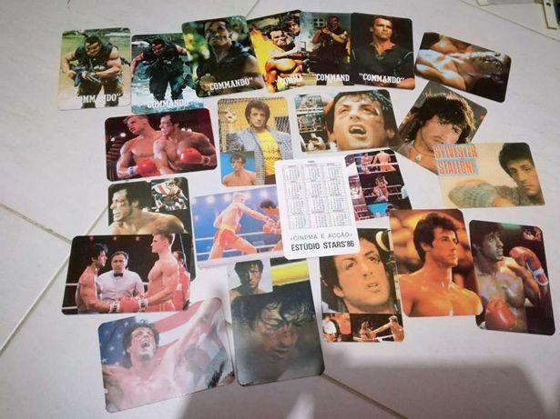 21 calendários de 1986 — cinema e acção estudio stars'86