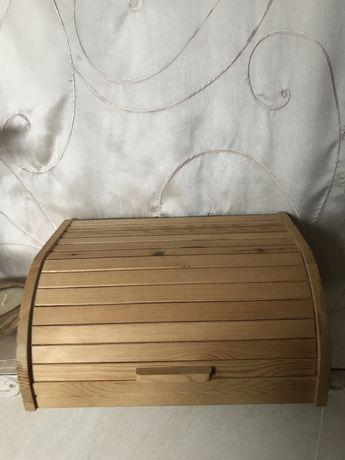 Pojemnik na chleb drewniany